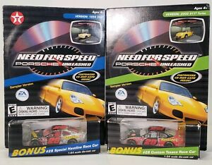 Lot Of 2 2000 EA Game NASCAR Ricky Rudd Need For Speed Porsche Unleashed Demo