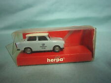 AB954 HERPA HO TRABANT 601 S LIMOUSINE 3086 DEUTSCHE POST MADE WEST GERMANY 1/87