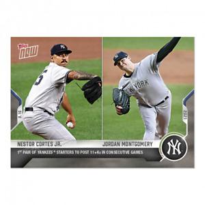 2021 Topps Now #818 Nestor Cortes Jr. Jordan Montgomery New York Yankees PRESALE