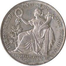 GERMANY STATES BAVIERA EIN THALER TALER LUDWIG 1871 PLATA SILVER PERFECTA