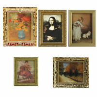 Fashion Vintage Photo Painting Mural Wall Picture For 1:12 Dollhouse Miniat T1I8