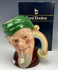 Retired Signed Large Royal Doulton Leprechaun D6847 Character Toby Mug w Box Bss