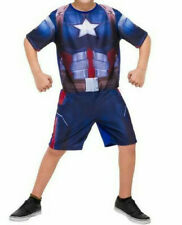 56% OFF! IMPORTED MARVEL CAPT. AMERICA ROMPER COSTUME MEDIUM 6-8 yrs BNWT $8.99