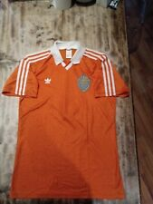 VINTAGE RARE ADIDAS FOOTBALL SHIRT KNVB 100YRS HOLLAND #5 WINTER 1989 MATCHWORN