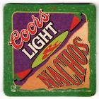 Vintage Cardboard Coaster (1) Collectible Man Cave Coors Light & Nachos 21-40