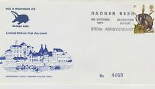 ** BRITISH WILDLIFE FIRST DAY COVER BADGER BEER CANCELLATION 8TH OCTOBER 1977 **