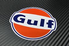 Autocollant adhésif Gulf logo 100 mm avec Lamination - Autorisé par Gulf Oil UK