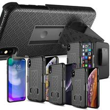 Glass Screen Protector Armor Holster Belt Clip Kickstand Case For Apple IPhones