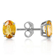 1.8 Carat 14K Solid White Gold I Found Someone Citrine Earrings