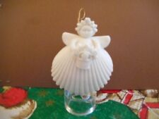 1993 Margaret Furlong Designs Flower Basket Angel Bisque Porcelain Ornament