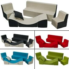 Ensemble de meubles chambre enfant: 2xfauteuil+canapé+pouf dépliant, jeu repos