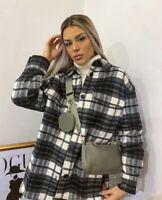 Plaid shacket shirt jacket H&M bloggers