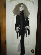 HALLOWEEN HANGING BABY GIRL DOLL ZOMBIE POSEABLE ARMS DREADS SCARY NO BODY RARE!