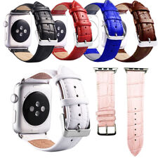 Genuine Leather Strap Band Bracelet For apple watch Series4 3 2 1 38-44mm iWatch