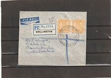 New Zealand REGISTERED AIRMAIL COVER