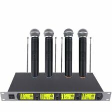 GTD Audio 4x 800 Channel UHF Diversity Wireless Handheld Microphone Mic System A