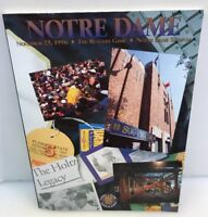 Notre Dame Fighting Irish ND November 23 1996 Football Game Program v Rutgers