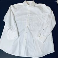 Tommy Bahama Mens Shirt Button Up White Stripe On White Size 16 1/2 32-33