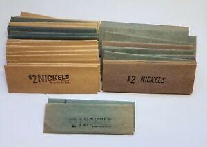 50 VINTAGE $2 NICKEL COIN WRAPPERS FLAT UNUSED BRANDT 3 TYPES