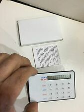Vintage Credit Card Size Calculator All Working 10 Digit
