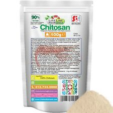 100g (3.53 oz) Chitosan Powder, Deacetylation Degree (DAC): 90% (P)