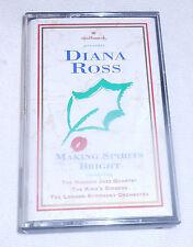 Diana Ross Cassette Making Spirits Bright Audio 1994 Hallmark 12 Christmas Songs