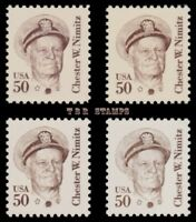 Chester Nimitz 1869 1869a 1869d 1869e Great Americans 50c Set of 4 MNH - Buy Now