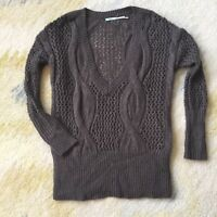 Urban Outfitters Kimchi Blu Oversized V Neck Cable Knit Sweater Size XS