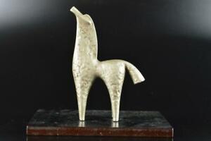 L1136: Japanese Iron HORSE STATUE sculpture Ornament Figurines Okimono