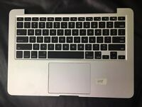 "2015 A1502 13"" MacBook Pro Top Case Keyboard Battery A1582 Palmrest Grd A"