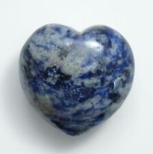 40mm Lapis Lazuli Heart Gemstone- Lapis Lazuli Specimen Crystal Heart Puff Heart