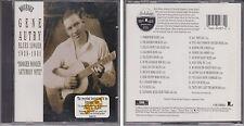GENE AUTRY Blues Singer 1929-1931 Booger Rooger Saturday Nite 1996 [SBM] CD