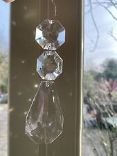 Large Vintage Crystal Glass Chandelier Drops