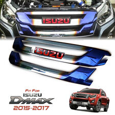CHROME TITANIUM FRONT GRILL GRILLE RED LOGO ALL NEW ISUZU DMAX D-MAX 2015-2017