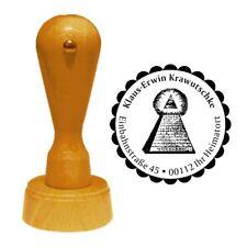 Stempel « FREIMAURER 02 » Adressenstempel Motiv Name Pyramide Illuminaten Bund