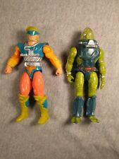 HE-MAN , MOTU, Loose Figures Mattel, 1989 Slush Head / 1989 Spin Wit, Used