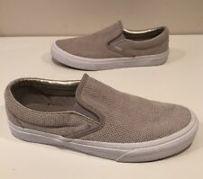 Vans Perforated Leather Womens Slip On Casual Shoes Size 8.5 GREAT!