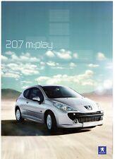 Peugeot 207 m:play 1.4 75 Limited Edition 2007-08 UK Market Sales Brochure
