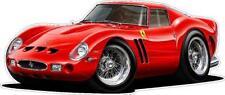 1962 Ferrari 250 GTO Exotic Cartoon Car Wall Graphic Decal Stickers Boys Room