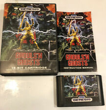 Ghouls 'n Ghosts (Sega Genesis, 1989) - Authentic - Complete! CIB!