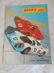 french Dinky toys catalogue 1970-71 with mini highway landrover supplement