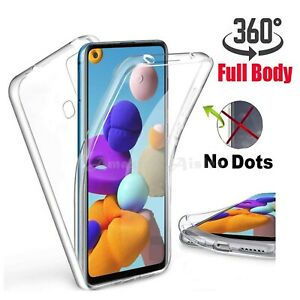 Case for Samsung Galaxy A21s Full 360 Gel Cover Front and Hard Back