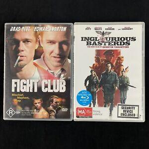 Fight Club and Inglorious Bastards Brad Pitt DVDs Region 4