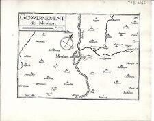 Antique maps, Gouvernement de Meulan