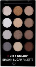 City Color Brown Sugar Natural Color Eyeshadow Palette - 12 Natural Tone Colors