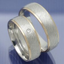 Trauringe Eheringe Hochzeitsringe Verlobungsringe Silber Rotgold - P9159224