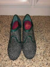 Poetic Licence Secret Admirer Green Tweed Heels in Size 37/US 6.5-7 EUC RARE