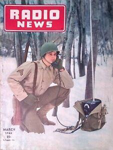 Radio News Magazine March 1944 Mine Locators Panoramic Reception W/ Great Ads