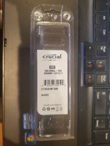 MICRONCrucial 8GB 2Rx8 PC3L-12800S DDR3L 1600Mhz 1.35V SODIMM RAM Laptop Memory