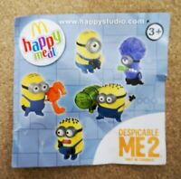 McDonalds Happy Meal Toy UK Despicable Minions 2 Figures Plastic Toys - Various
